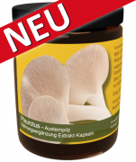 120 Pleurotus ostreatus Extrakt-Kapseln im Monatstiegel